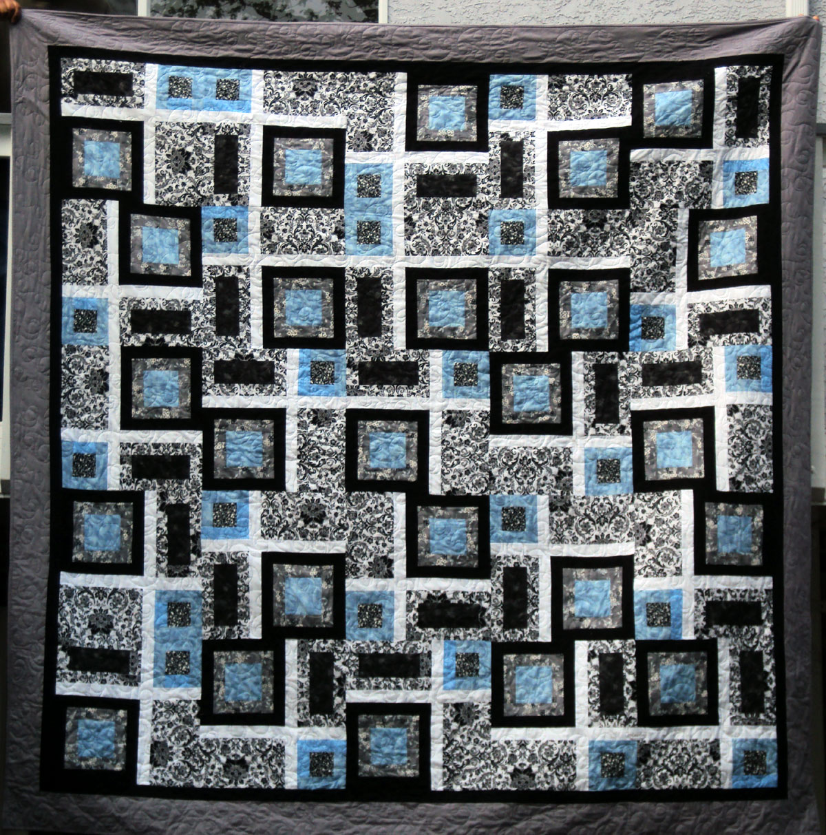 Midnight in Manhattan (wedding quilt for my niece)