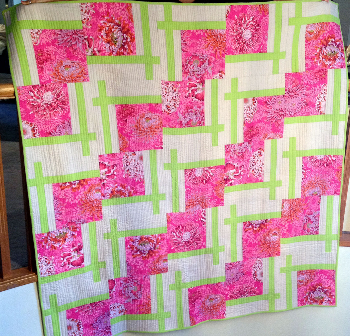 Foray into the Modern World - quilt for sale in my shop